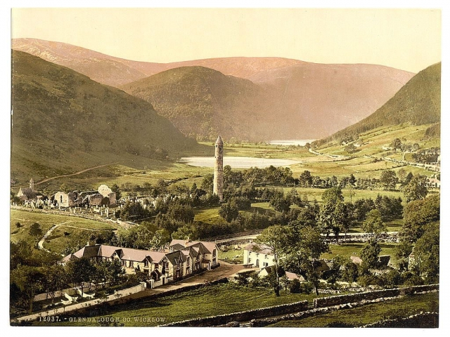 Old photo of Glendalough