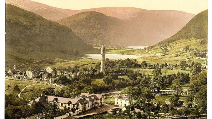 old photos of County Wicklow - Glendalough
