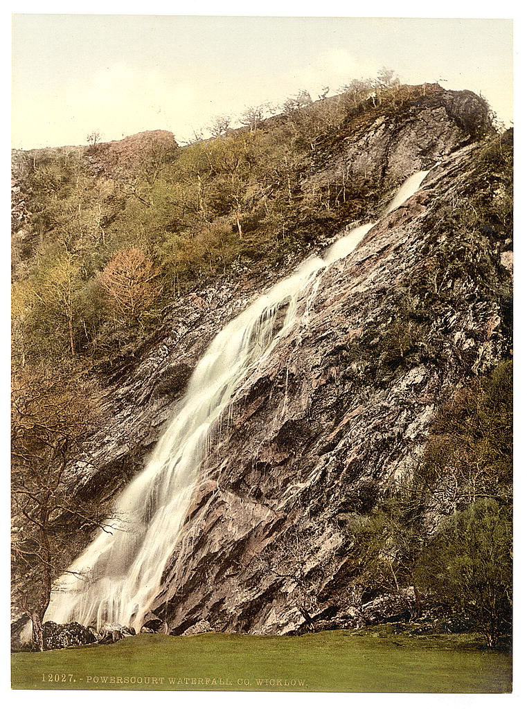 old photo of Powerscourt Waterfall